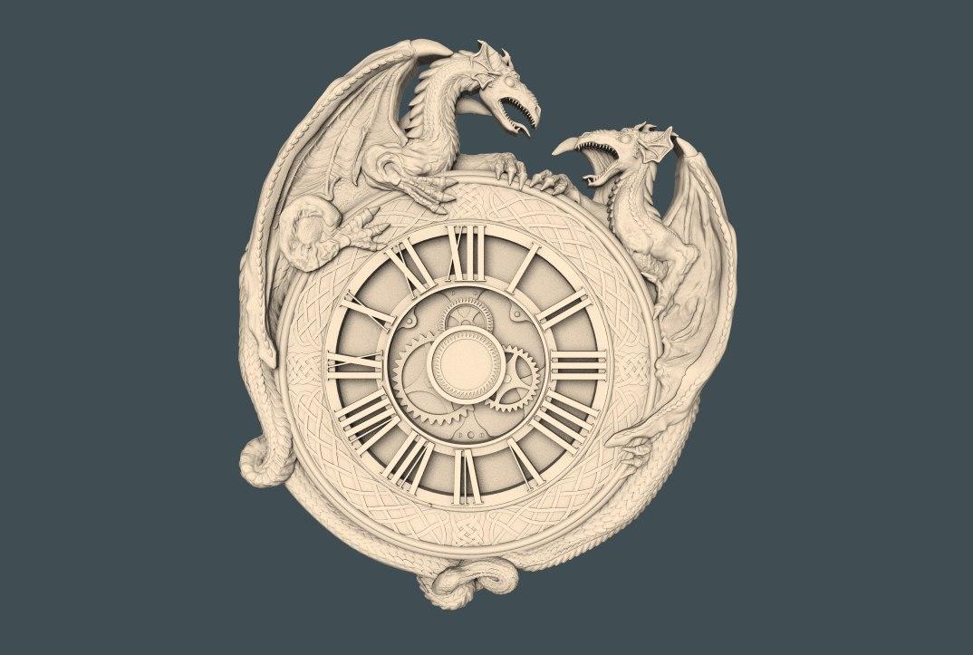 """Sieninis Laikrodis """"Įžvalgusis Drakonas"""""""