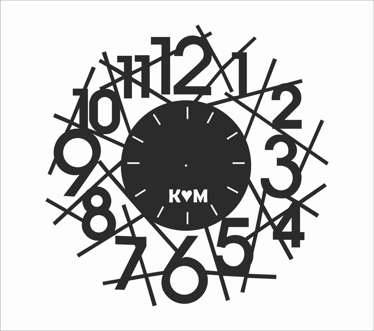 """Sieninis Laikrodis """"Skaitmuo"""""""