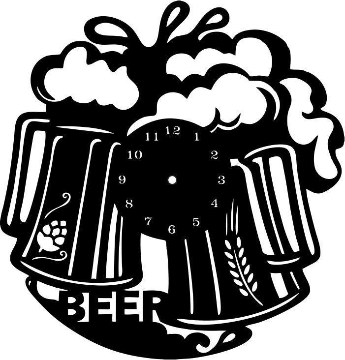 """Sieninis Laikrodis """"Beer"""""""