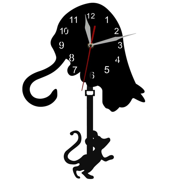 """Sieninis Laikrodis """"Dėmesingas Katinas"""""""
