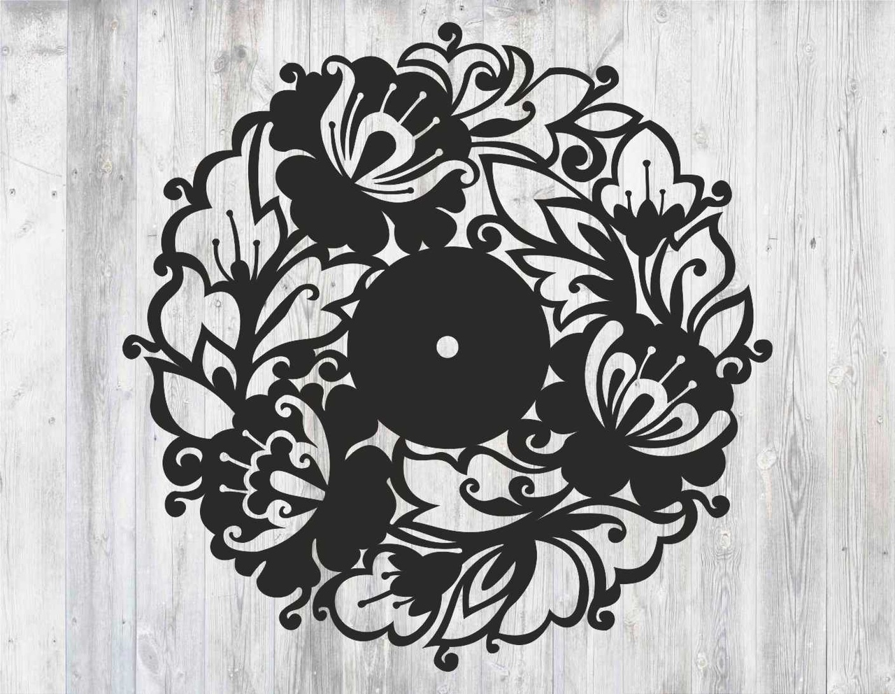 """Sieninis Laikrodis """"Gėlių Vainikas"""""""