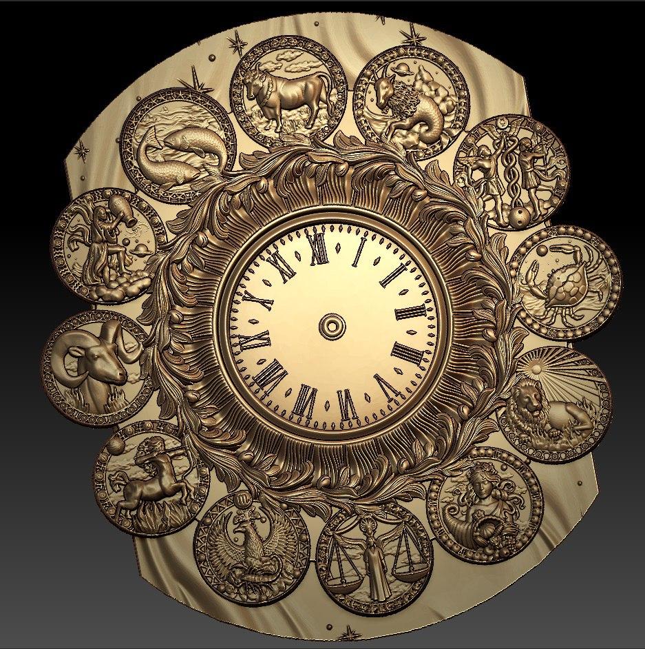 "Sieninis Laikrodis ""Zodiakas"""