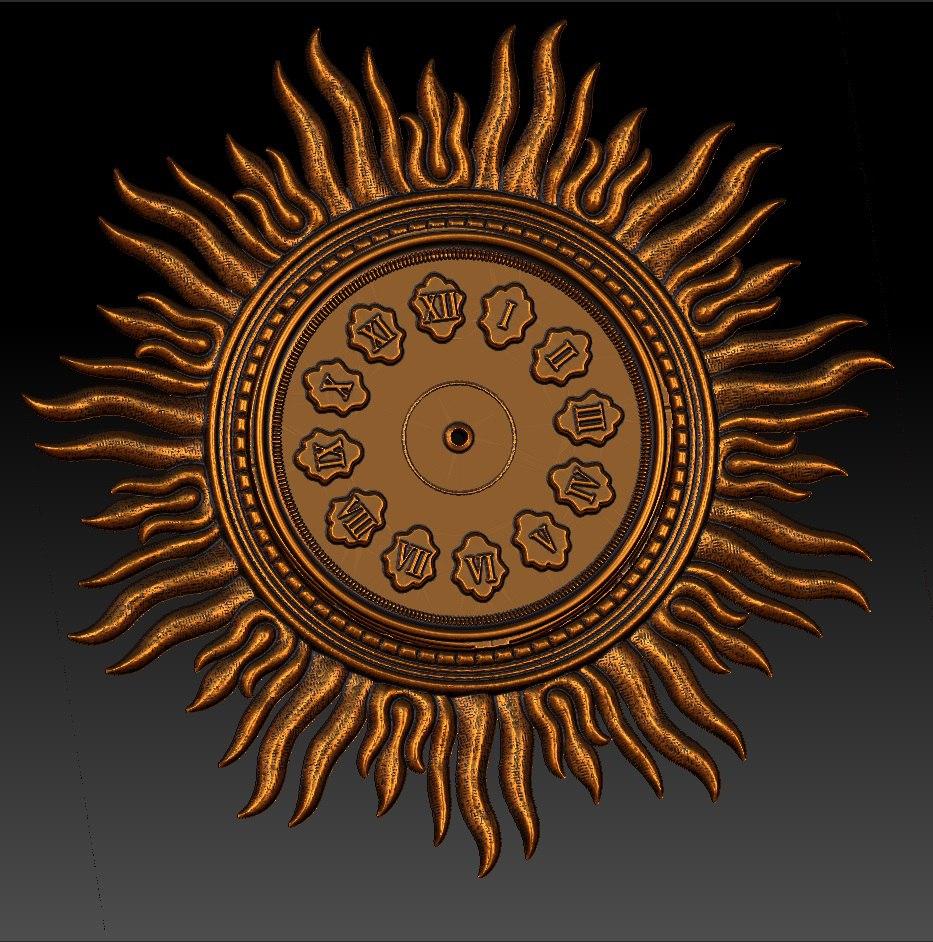 """Sieninis Laikrodis """"Geltonoji Saulė"""""""